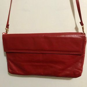 Zenith Hand Made Red Leather Shoulder Purse Clutch